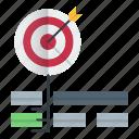 goal, keywords, optimization, seo, target icon