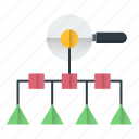 optimization, process, search, tree, web icon