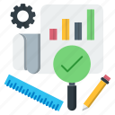 audit, chart, optimization, report, seo icon