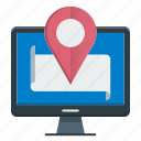 local, location, map, pin, seo icon