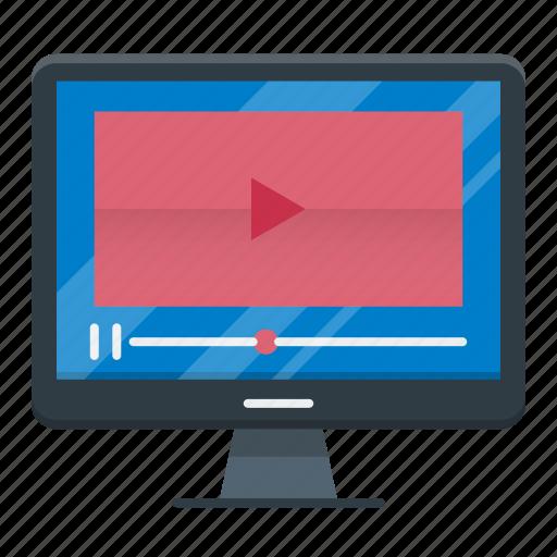 education, marketing, seo, tutorial, video icon