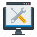 maintenance, optimization, tools, web, website icon