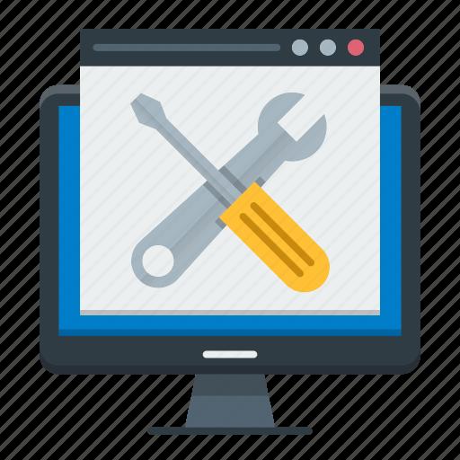 maintenance, optimization, tools, web, website icon