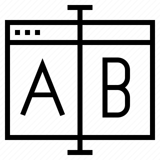 a/b, a/b terting, ab testing, conversion test, landing page, landing page testing, website conversion icon