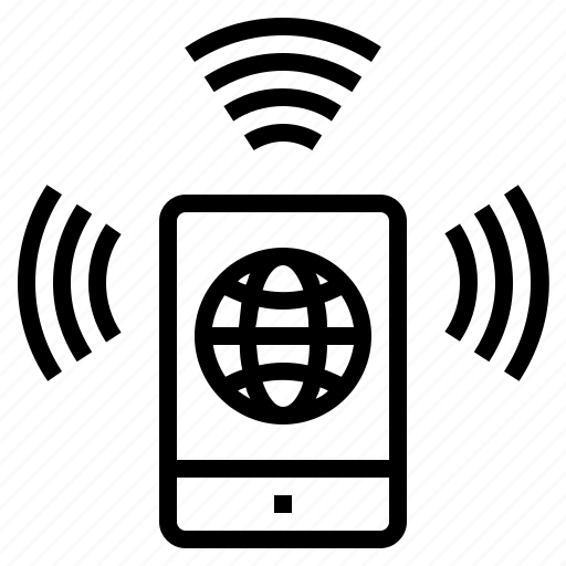 internet connection, mobile browser, mobile browsing, mobile internet, mobile phone, online connection icon