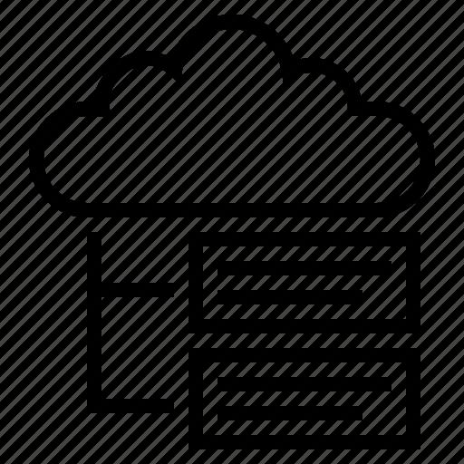 cloud, cloud computing, cloud networking, cloud server, cloud service, cloud technology icon