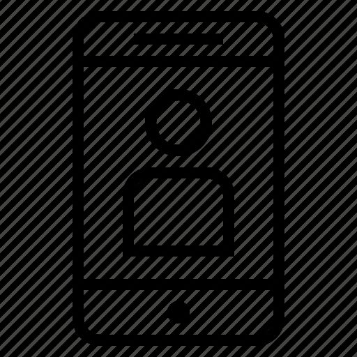 cellphone, cellphone profile, facebook profile, internet profile, mobile phone, online profile icon
