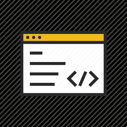 coding, developer, development, html, programming, web, website icon