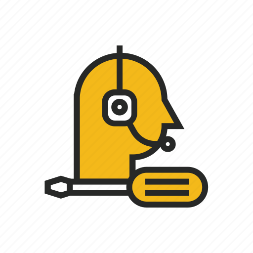 contact, customer, maintenance, operator, support, technical, trouble icon