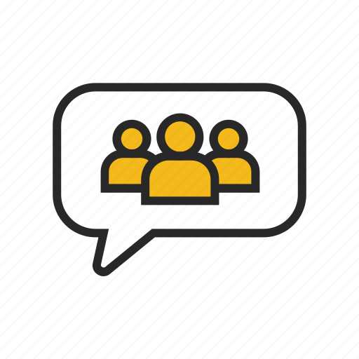 audience, chat, comment, feedback, message, speech, talk icon