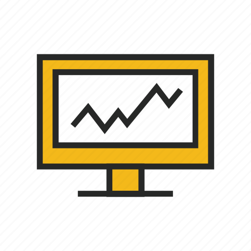 chart, computer, diagram, graph, monitor, monitoring, traffic icon