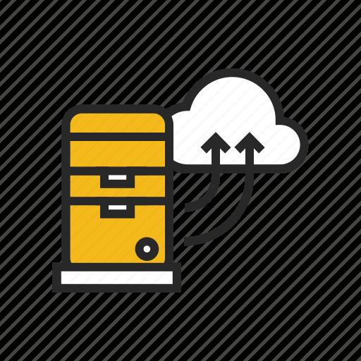 cloud, computer, hosting, server, technology, web, website icon