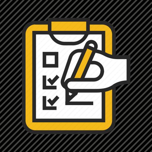audit, check, checklist, clipboard, document, list, listing icon