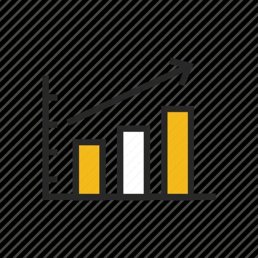 analysis, analytics, diagram, graph, growth, statistics, traffic icon