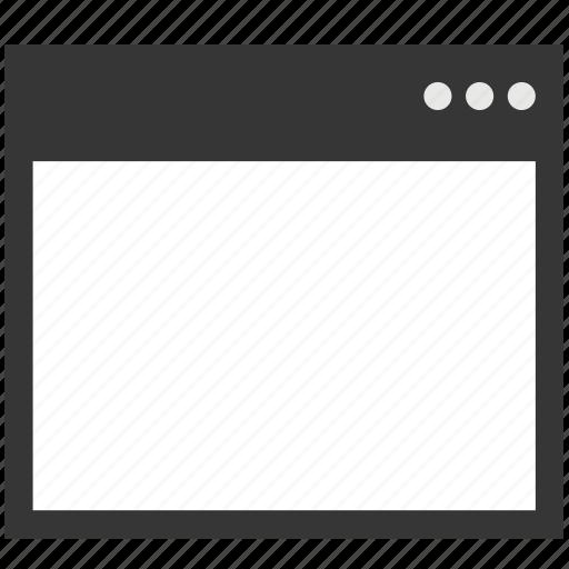 blank, browser, internet, program, seo, web, window icon