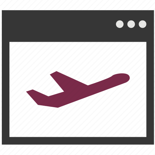 browser, flying, internet, landing page, page, plane, program icon