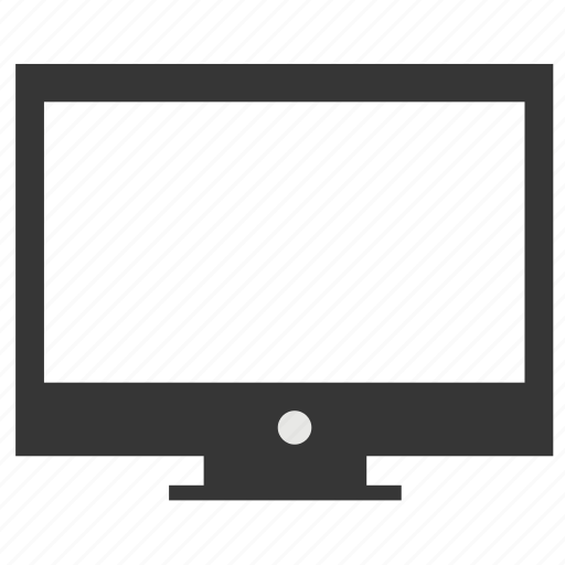 blank, computer, display, monitor, screen icon