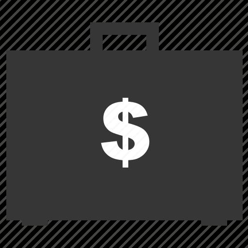 bag, business, case, dollar, money, suitcase icon