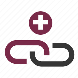 add, connection, linking, links, seo, web icon