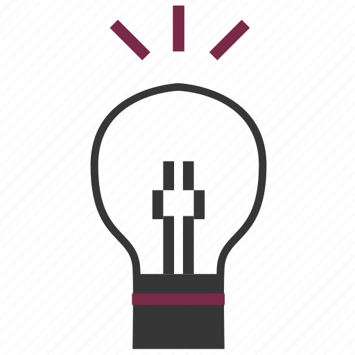 bulb, idea, light icon