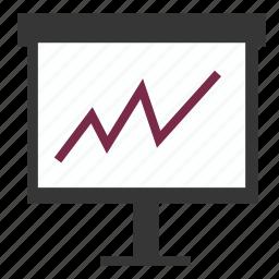 chart, diagram, increasing, profit, rising, whiteboard icon