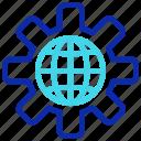 cog, cogwheel, global setting, internet, optimization, seo icon