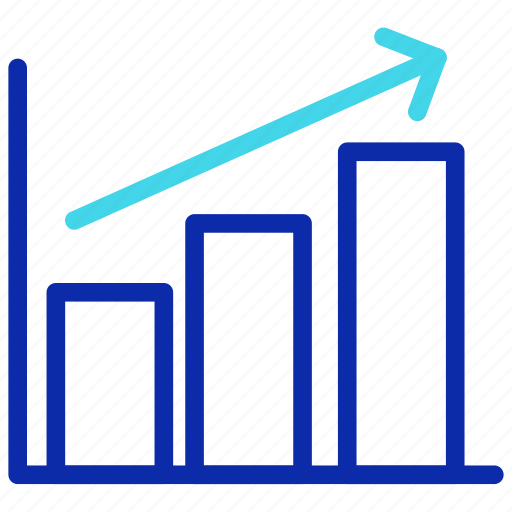 analytic, bar, chart, growth, increase, revenue, seo icon
