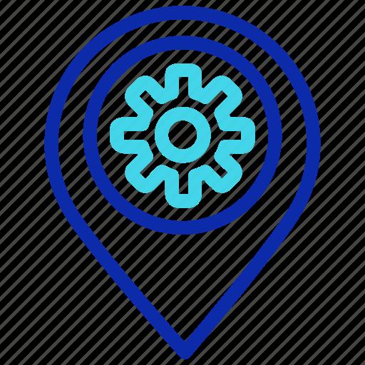 location, navigation, pin, pointer, seo, setting icon