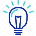 bulb, creativity, idea, lamp, light, seo icon