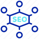 connection, marketing, network, seo, social, web icon