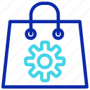 bag, buy, gear, seo, setting, shopping icon