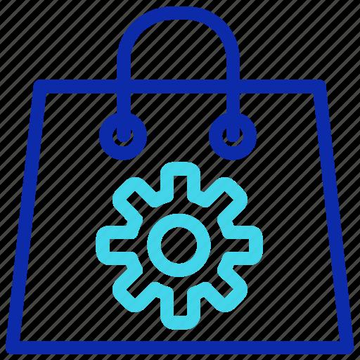 bag, buy, gear, seo, setting, shopping icon