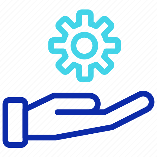 configuration, gear, hand, seo, setting, work icon