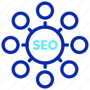 communication, connection, network, seo, social, web icon