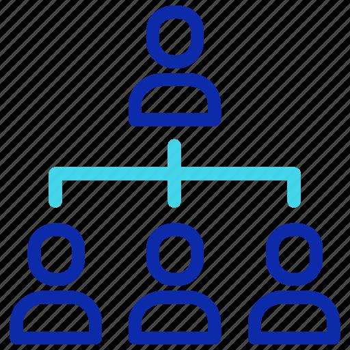chart, network, organization, seo, structure, team icon