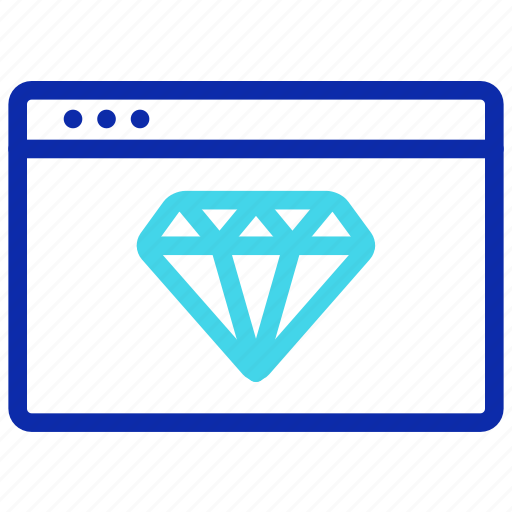 diamond, ranking, seo, value, web, website icon