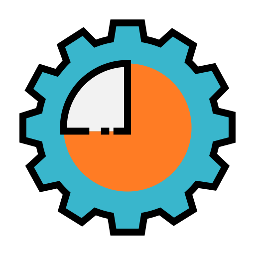 chart, gear, graph, seo, setting, settings icon