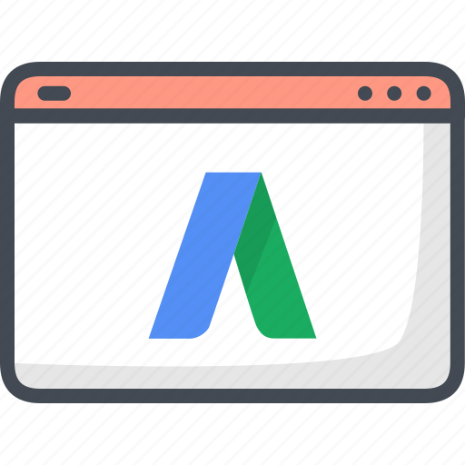 advertising, adwords, business, filled, google, outline, web icon