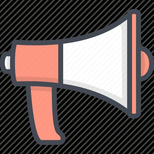 Business, filled, megaphone, outline, speaker icon - Download on Iconfinder