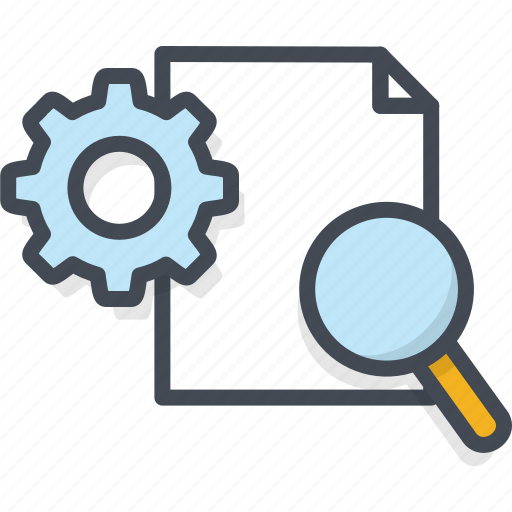 Business, engine, filled, optimization, outline, search icon - Download on Iconfinder