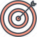 arrow, business, filled, outline, people, target, targeting icon