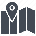 business, map, pin, seo, solid, targeting icon