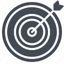 arrow, business, solid, target, targeting icon