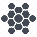 business, connection, network, solid icon