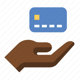 credit, creditcard, hand, pay, payment icon