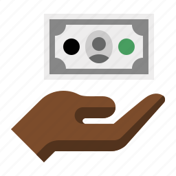 cash, charity, donation, hand, money, payment icon