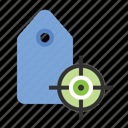 business, finance, keyword targeting, marketing, seo, tag targeting icon