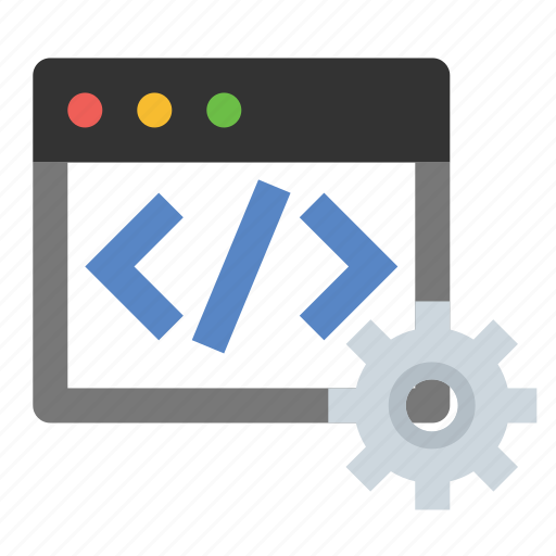 business, code settings, developer tools, finance, marketing, seo, source code icon