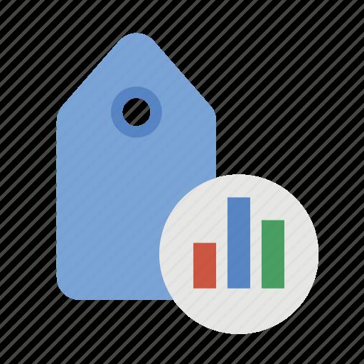 business, chart, finance, keyword analytics, marketing, seo, tag analytics icon