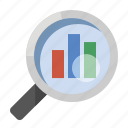 business, finance, marketing, search analytics, seo icon